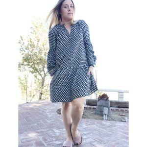 Joie Drop waist Floral Knee Length Dress